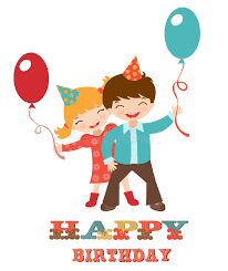 birthday cards for kids happy birthday card with kids royalty free stock photography