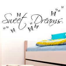 Bedroom Wall Stickers Uk Sweet Dreams Wall Sticker Art Decals Quotes Bedroom W43