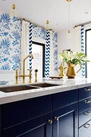 Designer Kitchen Hardware Sarah Richardson U0027s Royal Blue Gold And White Kitchen Blue