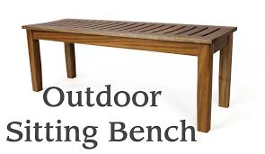 outdoor sitting bench youtube