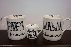 mama papa and baby bear coffee mug new parents gift
