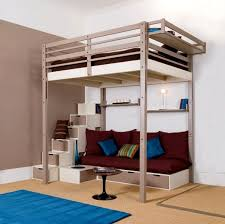 Loft Bed With Futon Underneath Size Loft Bed With Futon Bonners Furniture