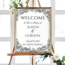 wedding welcome sign template wedding welcome sign template diy wedding sign weddings