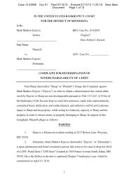 X Ray Tech Resume Sample by Paul Sharp Mark Erjavec Daniel Gelb Plaza I Bankruptcy Complaint