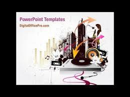 modern music powerpoint template backgrounds digitalofficepro
