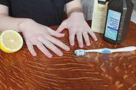 How To Lighten Stained Wood by Natural Ways To Whiten Underneath Nails Livestrong Com