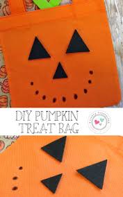 halloween treat bag craft dollar store diy craft idea halloween pumpkin treat bag