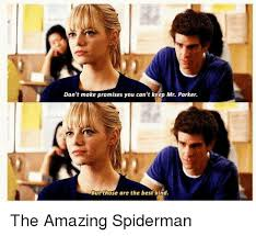 Make A Spiderman Meme - don t make promises you can t keep mr parker but those are the best