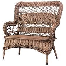 furniture wayfair wicker furniture wicker settee 3 seat patio