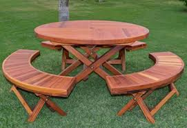 Folding Wood Picnic Table Wood Folding Tables Folding Wood Tables Forever Redwood