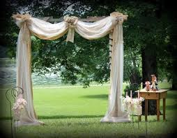 wedding arches decorated with burlap do burlap chalkboards and tulle go together weddings