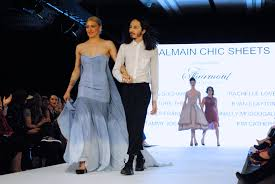 eco fashion week 8 ways to transform bed linen into evening wear