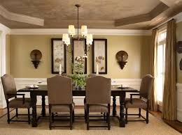 light brown dining room paint colors with classic furniture