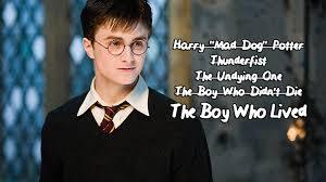 Harry Potter Sparklife 50 Rejected Nicknames For Harry Potter