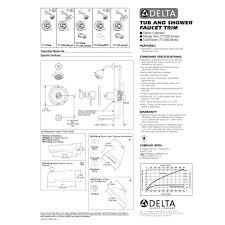 Delta Faucet Parts Diagram Delta Faucet T17430 Mts Classic Polished Chrome One Handle Tub