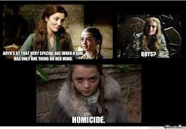 Arya Meme - brace yourselves arya stark is coming of age by nognir meme center
