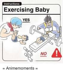 Yes Meme Baby - instructions exercising baby yes no animemoments meme on