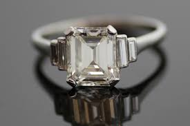 vintage emerald cut engagement rings emerald cut engagement ring vintage ringscollection