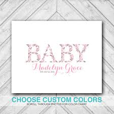 baby shower guest book alternative canvas pink and brown