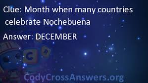 month when many countries celebrate nochebuena answers