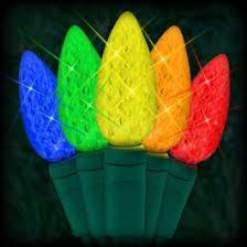 multi colored led christmas lights led multi color christmas lights 50 c6 led strawberry style bulbs 6
