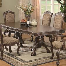 coaster furniture 103111 andrea dining table in brown cherry