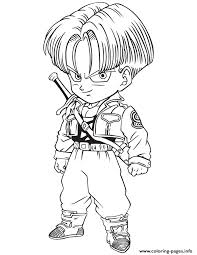 dragon ball trunks coloring coloring pages printable
