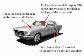 mustang vin decoder page