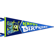 Happy Birthday Flags Monsters University Party Supplies Monsters University Birthday