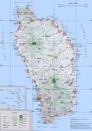 Topo Map Large Detailed Topographic Map Of Dominica