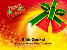 red bells merry christmas powerpoint templates ppt