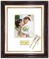 wedding autograph frame 20 x 24 personalized wedding picture frame with 2
