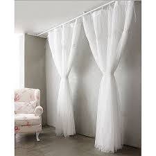 style white sheer solid lace curtains