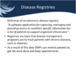 data registries disease management and disease registries