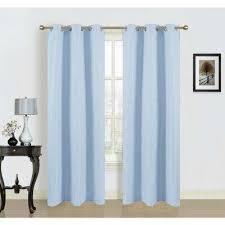 Baby Blue Curtains Cotton Grommet Blue Curtains Drapes Window Treatments
