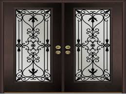 wood doors with glass inserts wrought iron wood doors examples ideas u0026 pictures megarct com