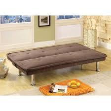Microfiber Sleeper Sofa Furniture Of America Caden Microfiber Sleeper Sofa Bed In Dark Beige