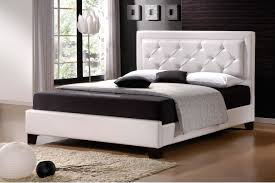 Modern White And Black Bedroom Modern King Size Bed Frames Providing A Spacious Room For Great