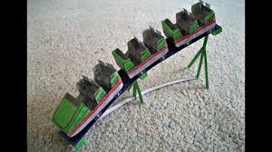 paper model of a roller coaster train youtube