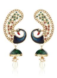 kanphool earrings buy sia jewellery kanphool style peacock earrings for women