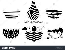 set icons birds nest logo emblem stock vector 696011863 shutterstock