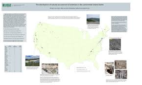 Map Of The Continental United States by An Asbestos Map Of The United States Wired