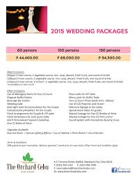 Wedding Packages The Orchard Cebu Hotel And Suites Mandaue City Cebu