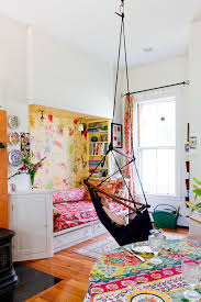 Shabby Chic Kitchen Wallpaper by Floral Wallpaper Kids Eclectic With Floral Curtains Built In Bed