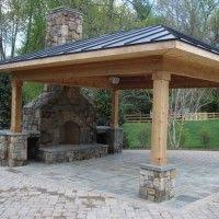 Detached Patio Cover Detached Covered Patio With Fireplace But In Our Climate We U0027d