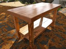 wood kitchen island table recycled pallet kitchen island solution for lack of counter
