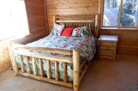 Rustic Log Bedroom Furniture Custom Rustic Cedar Log Beds