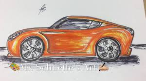 cool orange cars how to draw cool cars time lapse easy drawing tips for all