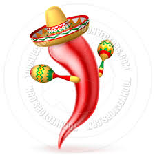 cartoon sombrero cartoon chilli pepper with maracas and sombrero by geoimages
