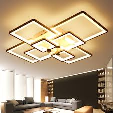 Living Room Ceiling Light Fixtures Designer Led Ceiling Lights With Aliexpress Com Buy New Square